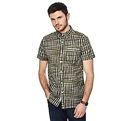RJR.John Rocha - Big and tall khaki abstract print tailored fit shirt