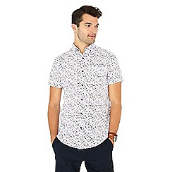 RJR.John Rocha - Big and tall pink egg print short sleeve tailored fit shirt