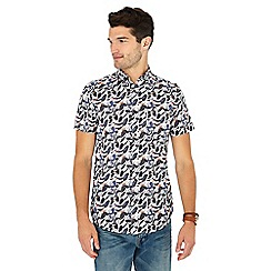 RJR.John Rocha - Big and tall grey swirl print short sleeve tailored fit shirt