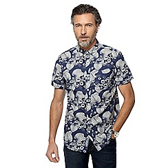 RJR.John Rocha - Navy floral print tailored fit shirt