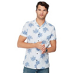 RJR.John Rocha - Blue floral print short sleeve tailored fit shirt
