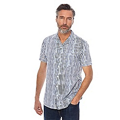 RJR.John Rocha - Big and tall navy and white striped tailored fit shirt