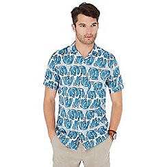 RJR.John Rocha - Blue floral print short sleeve regular fit shirt