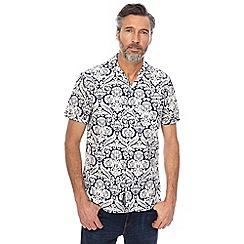 RJR.John Rocha - Navy vine print tailored fit shirt