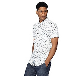 RJR.John Rocha - White printed short sleeve tailored fit shirt