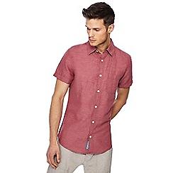 RJR.John Rocha - Pink linen blend short sleeve tailored fit shirt