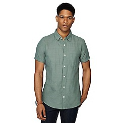 RJR.John Rocha - Green linen blend short sleeve tailored fit shirt