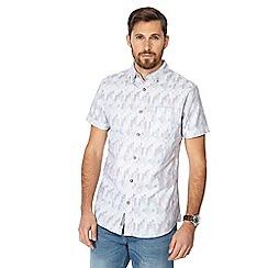 RJR.John Rocha - Pink puzzle check short sleeve tailored fit shirt