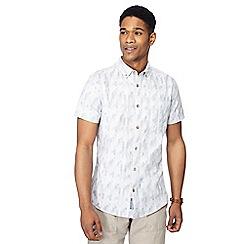 RJR.John Rocha - Green puzzle check short sleeve tailored fit shirt