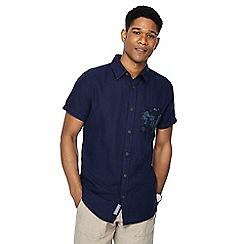 RJR.John Rocha - Navy linen blend short sleeve tailored fit shirt
