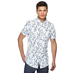 RJR.John Rocha - Green leaf print short sleeve tailored fit shirt