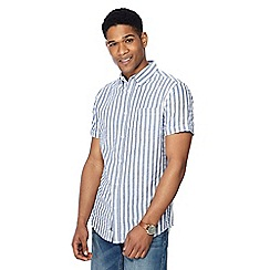 RJR.John Rocha - Navy checked short sleeve tailored fit shirt