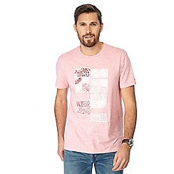 RJR.John Rocha - Pink tile print tailored fit t-shirt