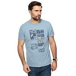 RJR.John Rocha - Big and tall light blue printed t-shirt