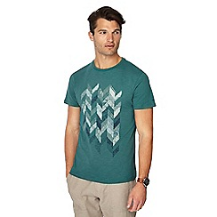 RJR.John Rocha - Green embroidered chevron t-shirt