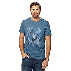 RJR.John Rocha - Blue embroidered chevron t-shirt