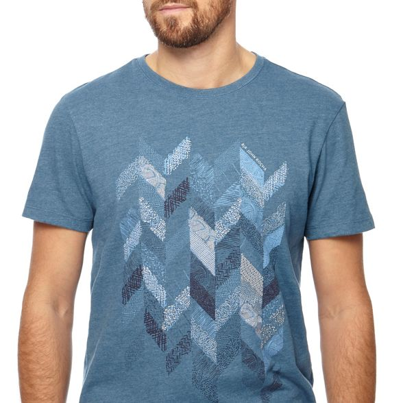 Blue t shirt chevron embroidered John Rocha RJR wqE76Tq