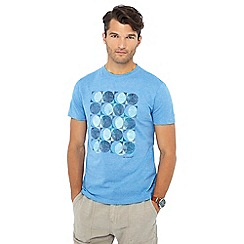 RJR.John Rocha - Big and tall blue circle sketch print tailored fit t-shirt
