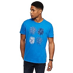 RJR.John Rocha - Royal blue circle print t-shirt
