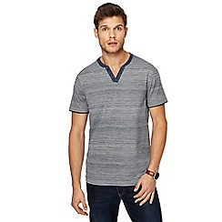 RJR.John Rocha - Big and tall navy striped tailored fit top