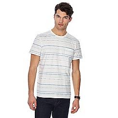 RJR.John Rocha - White and blue striped t-shirt