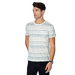 RJR.John Rocha - White and green striped t-shirt
