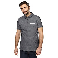 RJR.John Rocha - Navy jacquard polo shirt
