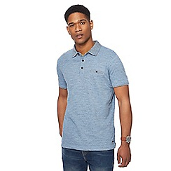 RJR.John Rocha - Big and tall pale blue fine striped tailored fit polo shirt