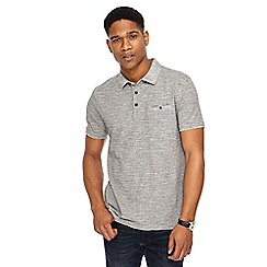 RJR.John Rocha - Big and tall grey fine striped tailored fit polo shirt
