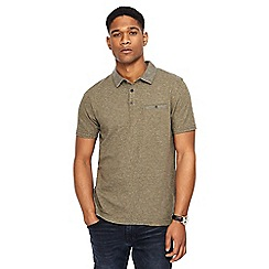 RJR.John Rocha - Big and tall khaki fine striped tailored fit polo shirt