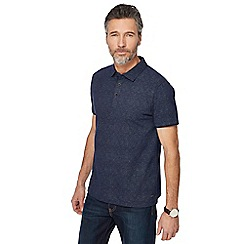 RJR.John Rocha - Navy printed tailored fit polo shirt