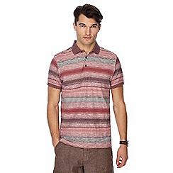 RJR.John Rocha - Big and tall pink stripe print tailored fit polo shirt