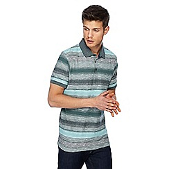 RJR.John Rocha - Light green stripe print tailored fit polo shirt