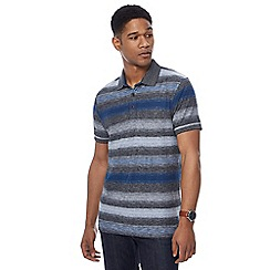 RJR.John Rocha - Big and tall navy striped tailored fit polo shirt
