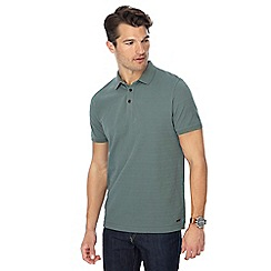 RJR.John Rocha - Big and tall green textured stripe tailored fit polo shirt