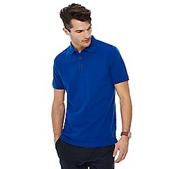 RJR.John Rocha - Bright blue textured stripe tailored fit polo shirt