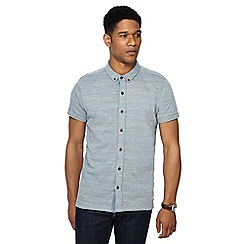 RJR.John Rocha - Pale blue jacquard jersey short sleeve tailored fit shirt
