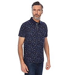 RJR.John Rocha - Navy spotted print tailored fit polo shirt