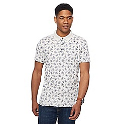 RJR.John Rocha - Big and tall off white leaf print tailored fit polo shirt