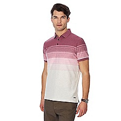 RJR.John Rocha - Pink striped ombre short sleeve polo shirt