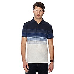 RJR.John Rocha - Navy striped ombre short sleeve polo shirt