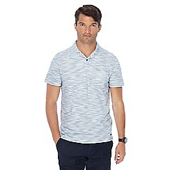 RJR.John Rocha - Big and tall white stripe print tailored fit polo shirt