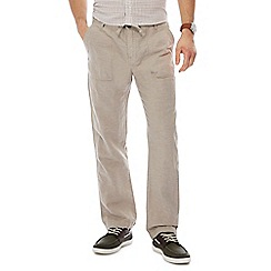 RJR.John Rocha - Natural straight leg linen bend trousers