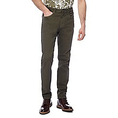 RJR.John Rocha - Khaki textured slim fit trousers