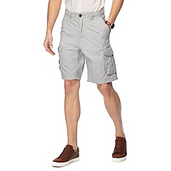 RJR.John Rocha - Big and tall grey basketweave cargo shorts