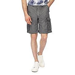 RJR.John Rocha - Big and tall dark grey textured cargo shorts