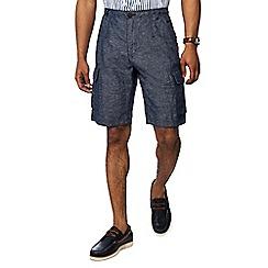 RJR.John Rocha - Navy linen blend cargo shorts