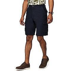 RJR.John Rocha - Dark blue linen blend cargo shorts