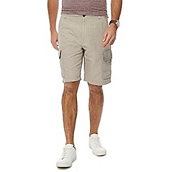 RJR.John Rocha - Natural linen blend cargo shorts