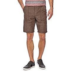 RJR.John Rocha - Big and tall brown linen blend shorts